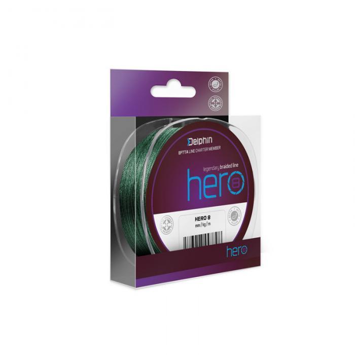 Плетено влакно Delphin HERO 8 / green