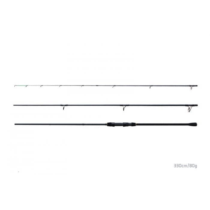 Въдица Delphin Opium black feeder + 3 части - 330cm/80g