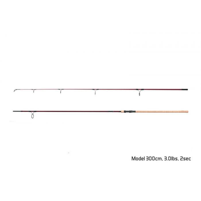 Въдица Delphin ETNA E3 cork / 2 части 390cm/3,50lbs