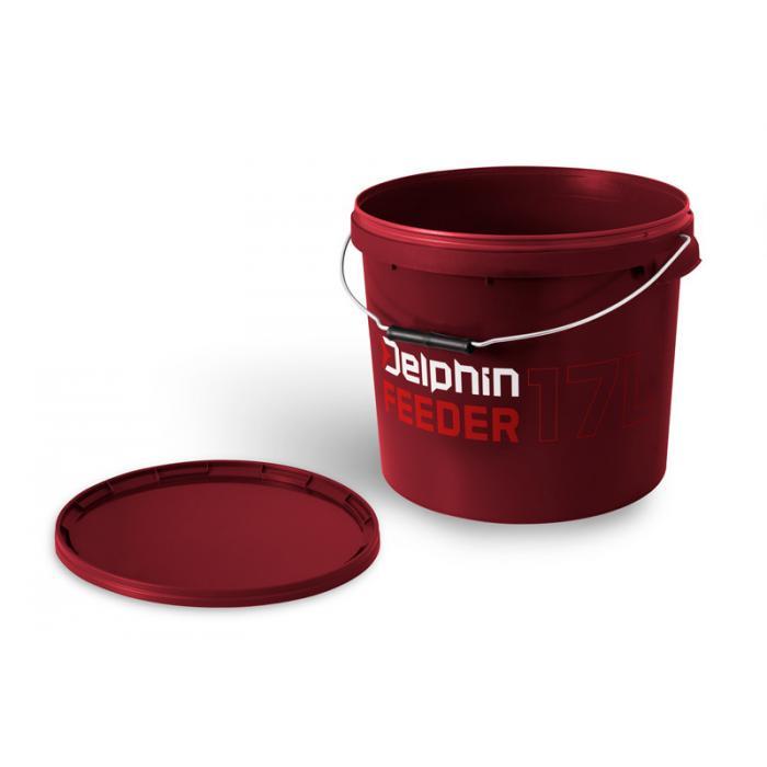 Кръгла кофа с капак Delphin FEEDER