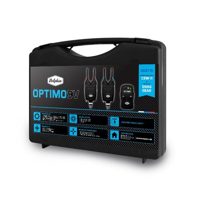 Комплект сигнализатори Delphin OPTIMO 9V + CSWII + Snag / 4+1
