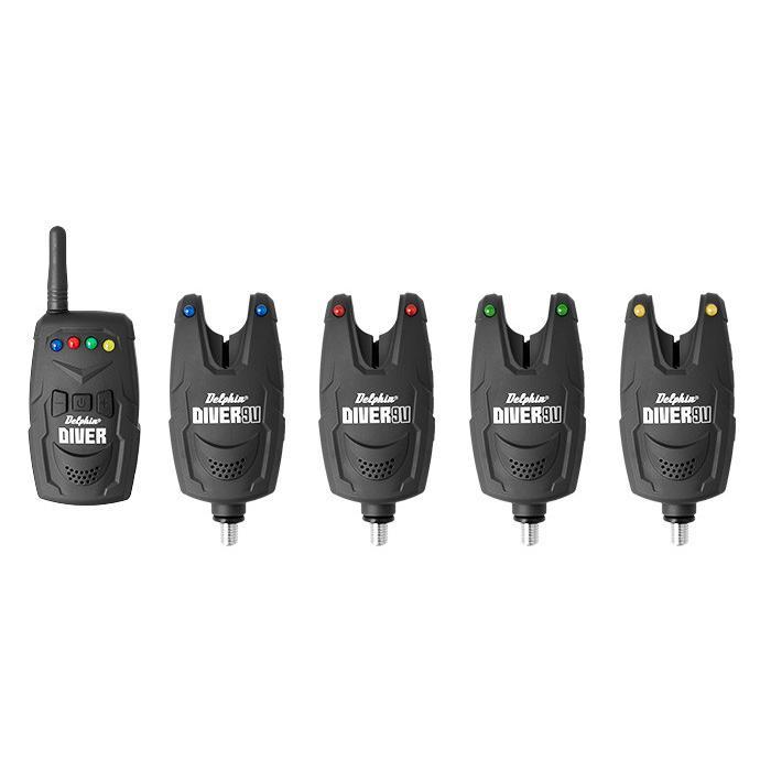 Комплект сигнализатори Delphin DIVER 9V 3+1