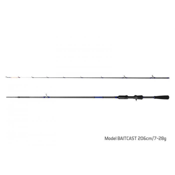 Въдица Delphin HOAX / 2 части BAITCAST 206cm/7-28g