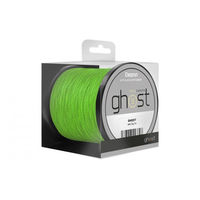 Плетено влакно Delphin GHOST 8+1 / green