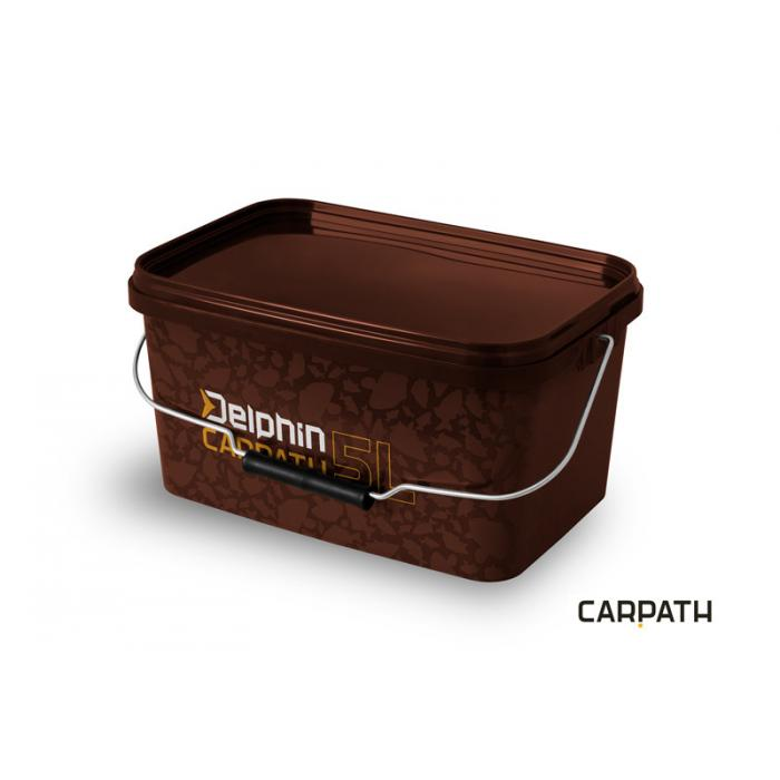 Правоъгълна кофа за захранка с капак Delphin CARPATH