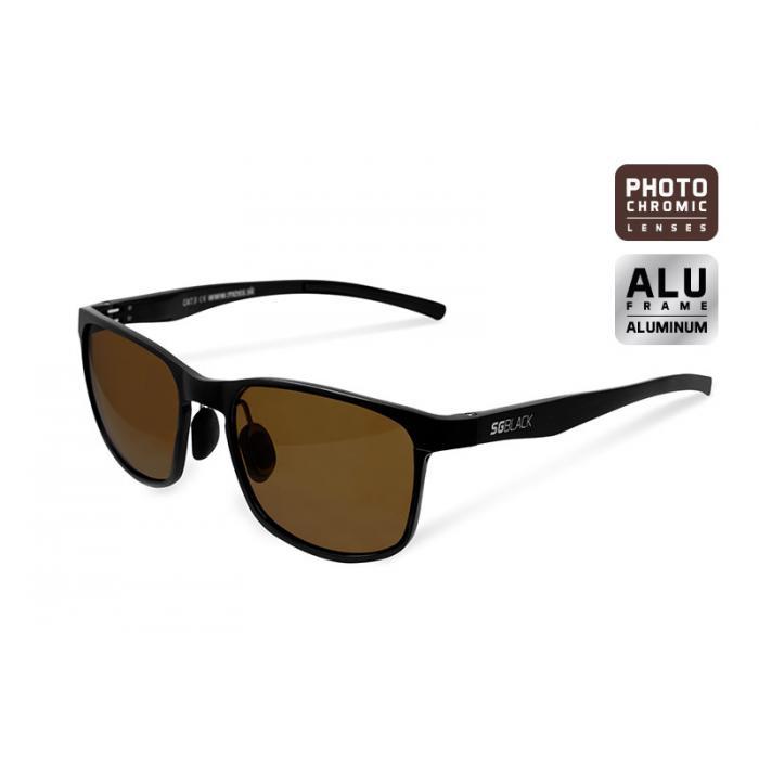 Фотохромични слънчеви очила Delphin SG BLACK brown glasses