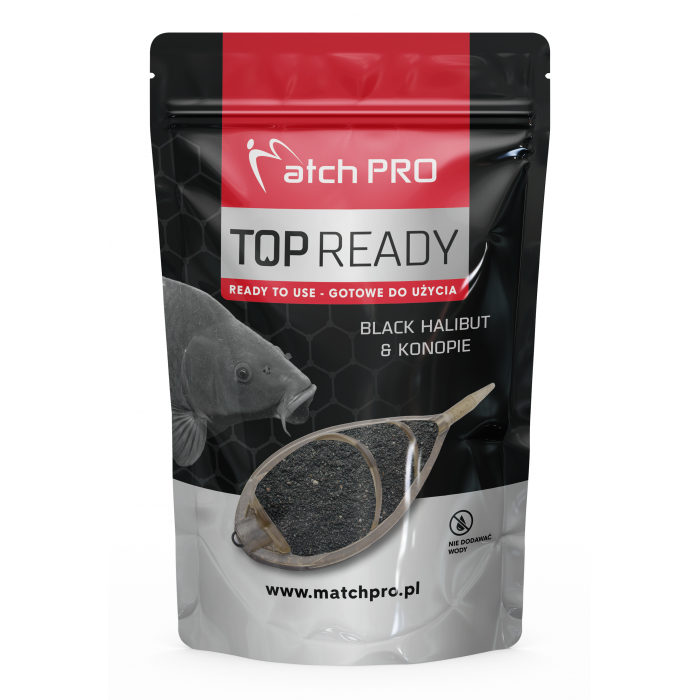 READY METHODMIX BLACK HALIBUT & HEMP MatchPro 700g