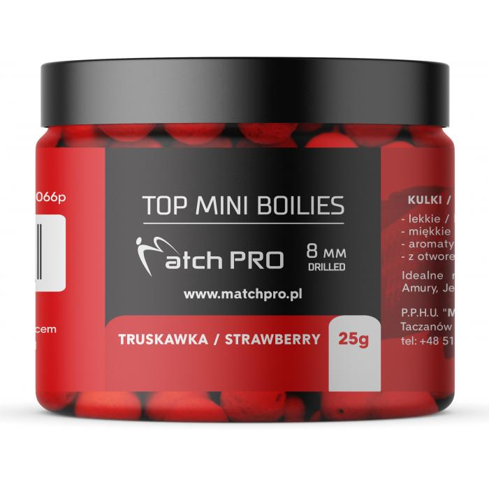 TOP BOILIES STRAWBERRY 8mm / 25g MatchPro