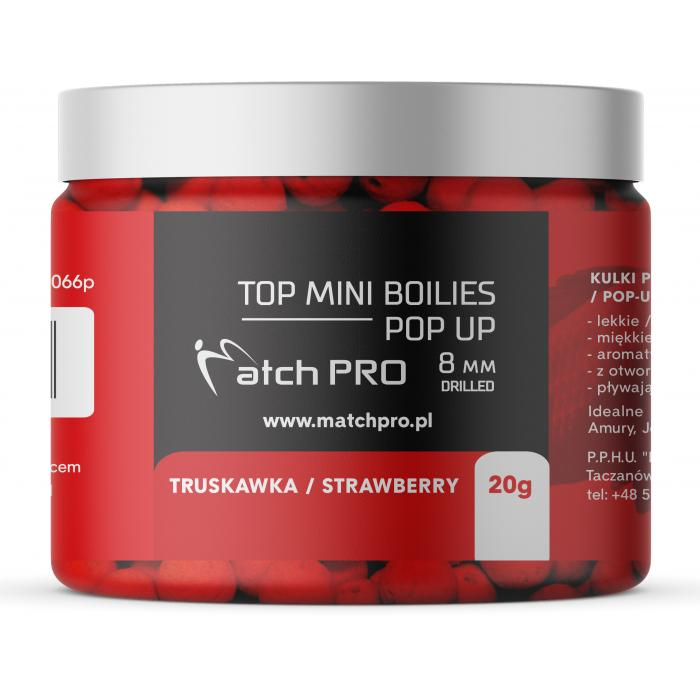 TOP BOILIES POP UP STRAWBERRY 8/20g MatchPro